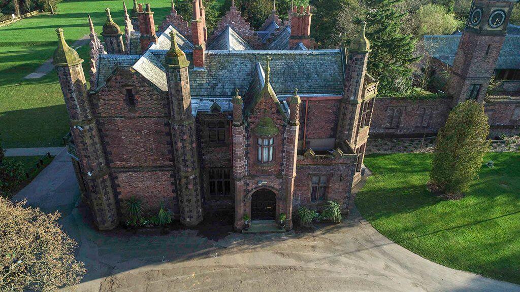 Aerial of Walton Hall and Gardens