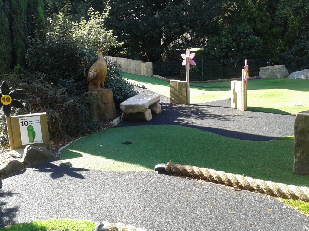 Adventure Golf course at Walton Hall and Gardens