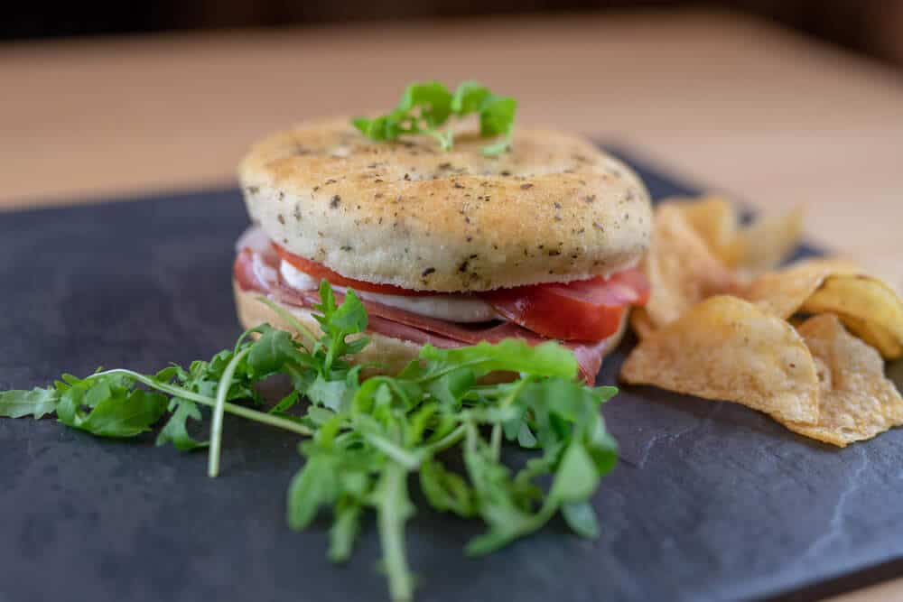 A deli sandwich at the Heritage Cafe, Walton Hall and Gardens. Plan your visit to Walton.