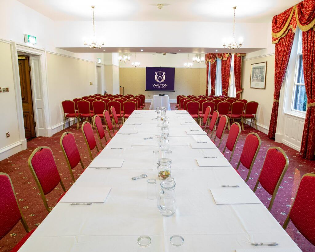 Banqueting style for corporate events at Walton Hall and Gardens