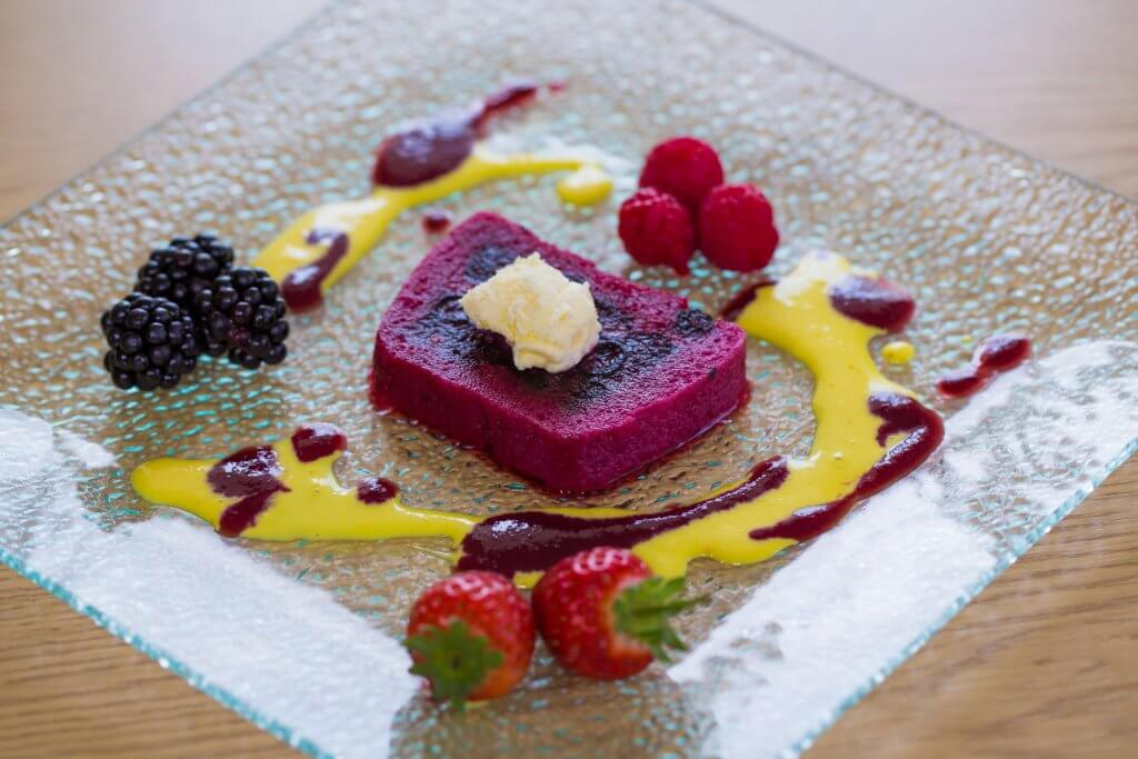 Something sweet for desert - fruit sorbet by Carringtons catering