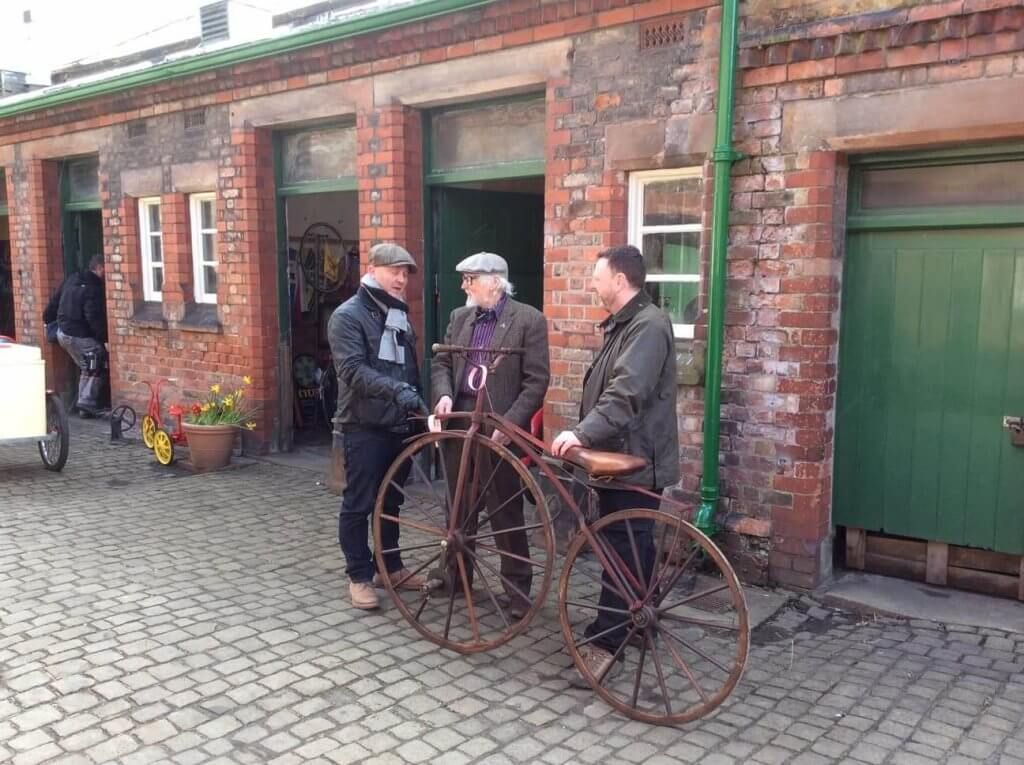 Paul discussing bikes - what else at Walton Hall and Gardens