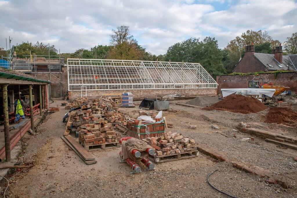 The building site of the glasshouses
