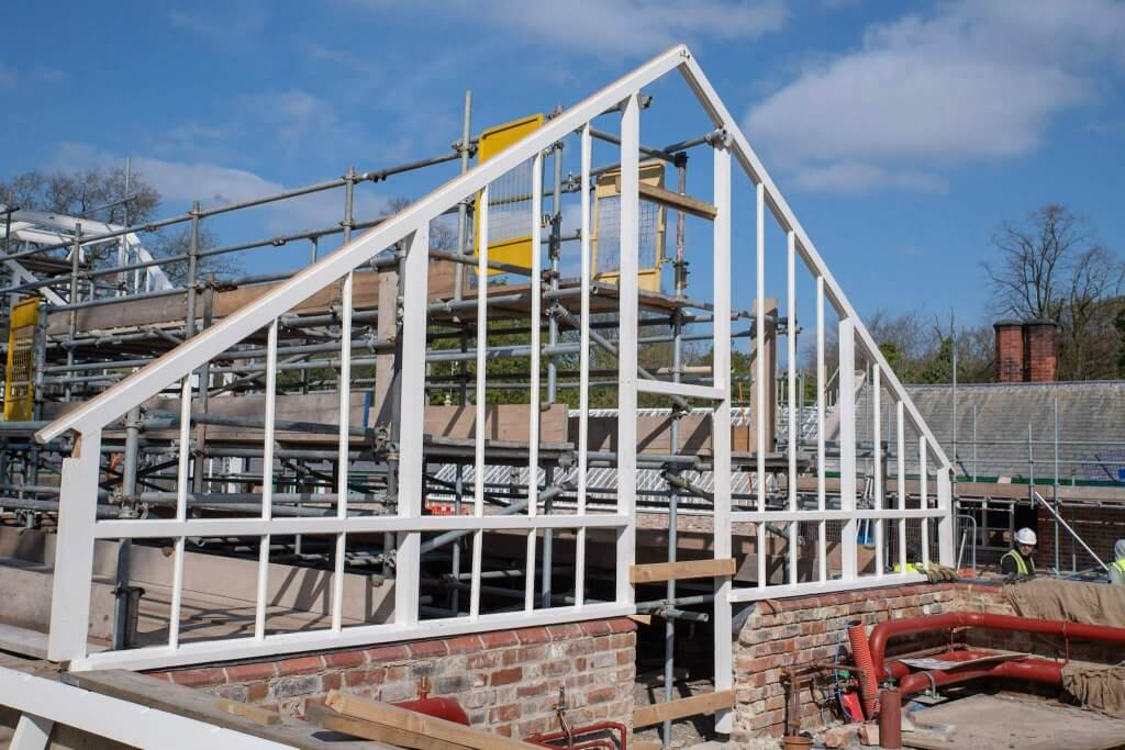 Walton timber frame in the sunshine