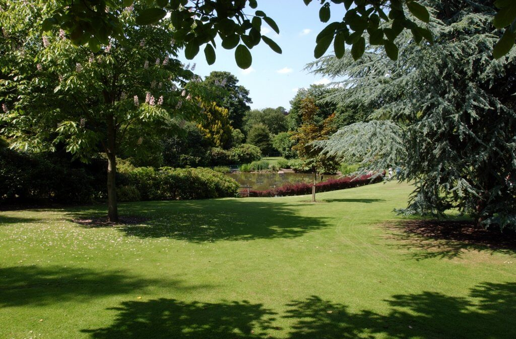 The beautiful grounds of Walton Hall and Gardens