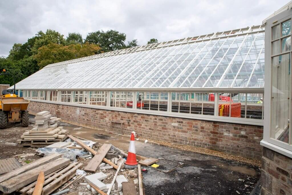 Windows going into the glasshouses. Part of the glasshouses restoration gallery.