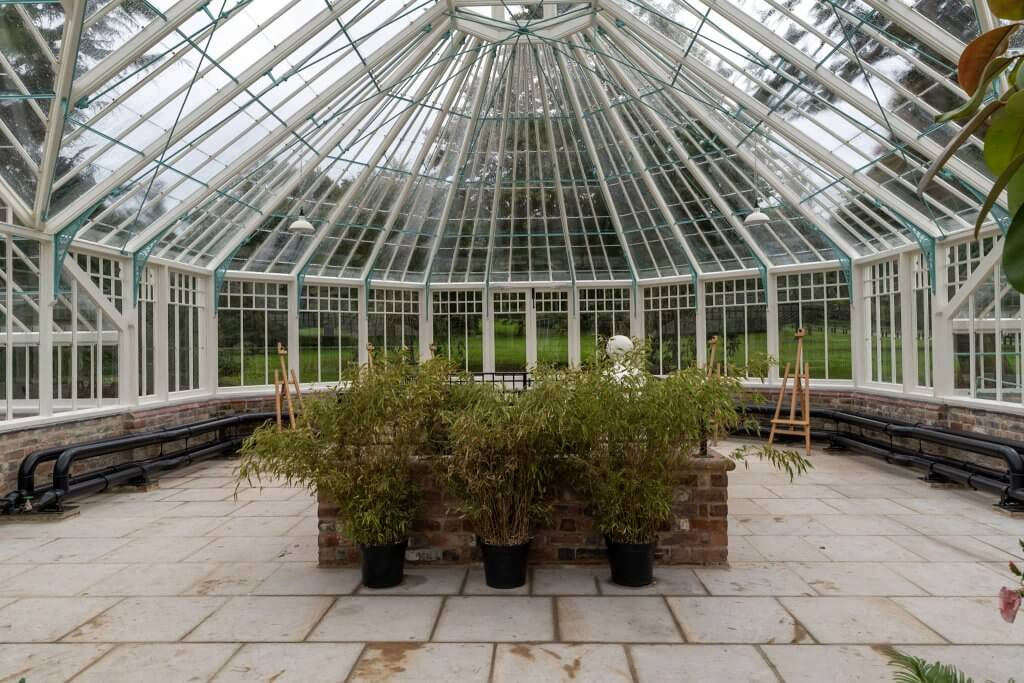 The newly restored glasshouses, now a place of learning