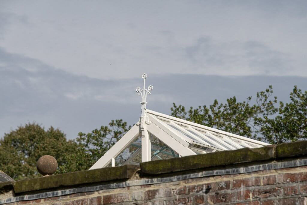 The glasshouse roof at Walton Hall and gardens