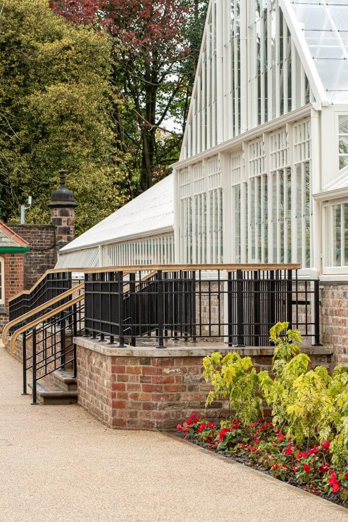 A side view of conservatory and shippon now a place of learning