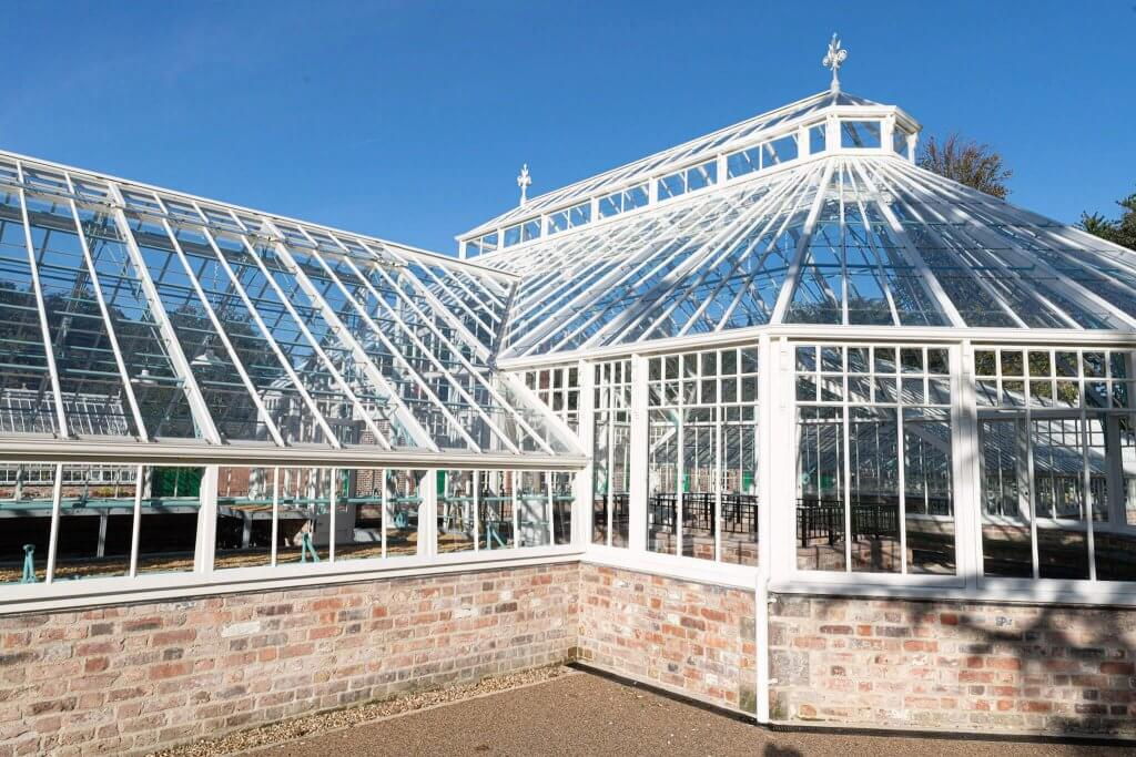 Glasshouses looking stunning in the sunshine