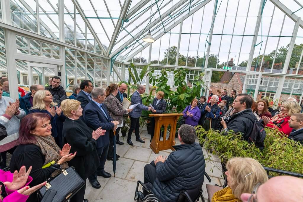 Opening ceremony at the glasshouses. Picture by Andy Gilbert.