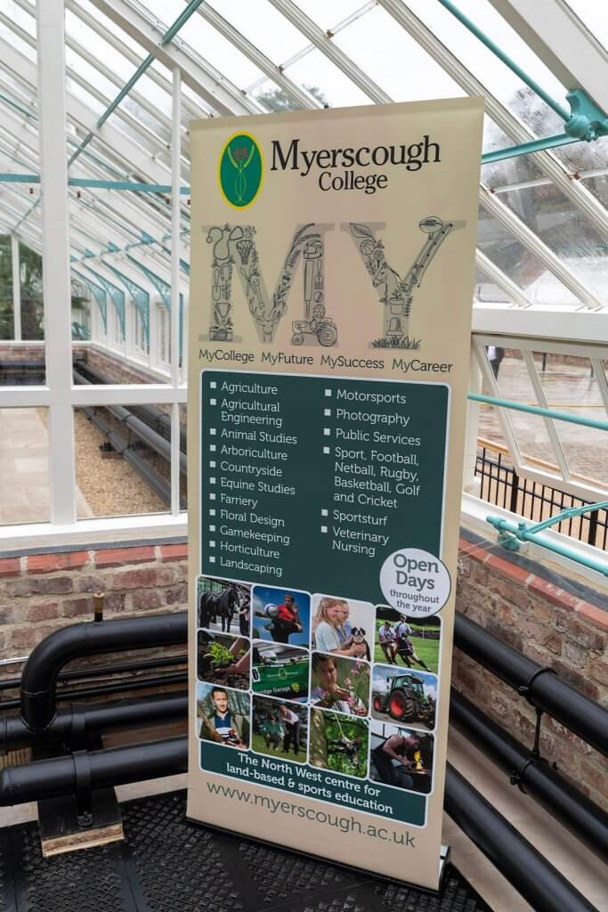 Myerscough board at the glasshouses opening ceremony