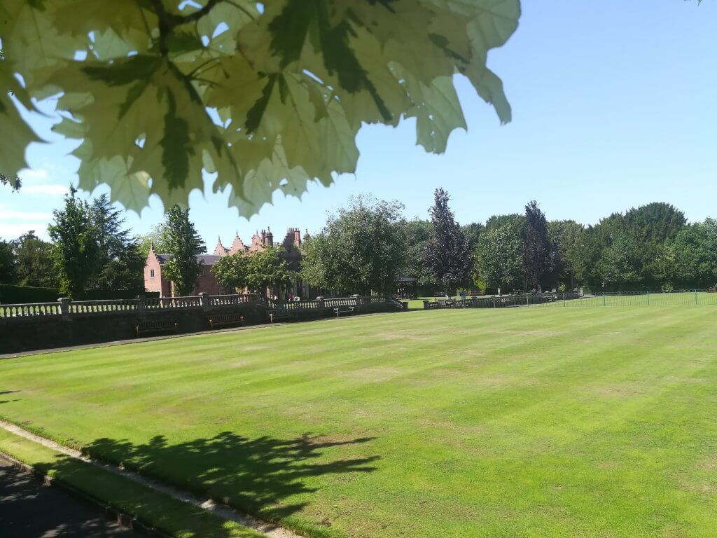 A picture of Walton Hall and Gardens bowling green. Our outdoor activities consist of a bowling green.