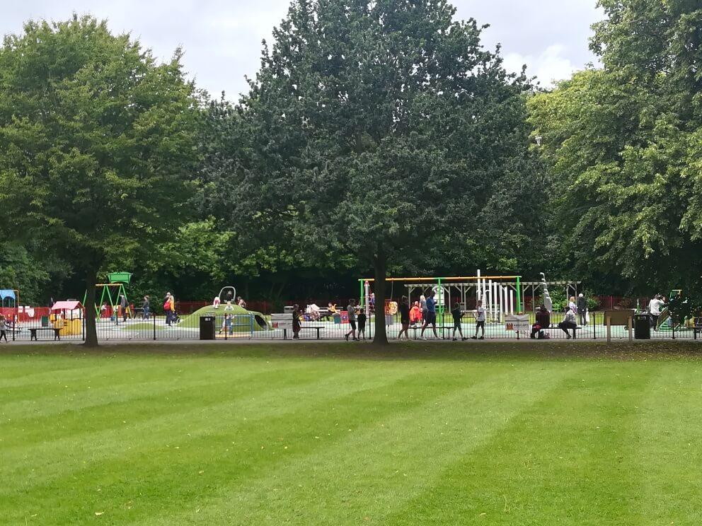 Children's playground re-opened