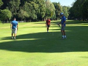 On the green at Walton Hall Golf Club
