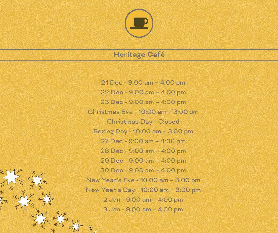 Heritage opening times
